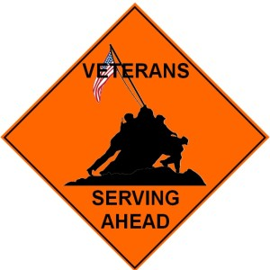 Veterans Serving Sign